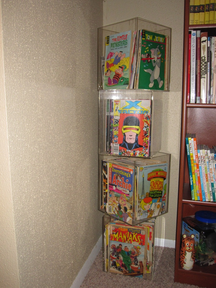 17 best images about comic book storage on pinterest wall mount shelves and comic book display - Comic book display shelves ...