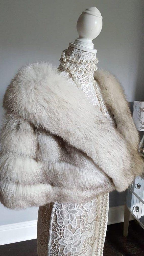 Bridal Fur Wrap Winter Wedding, White Fox Fur Coat Cost