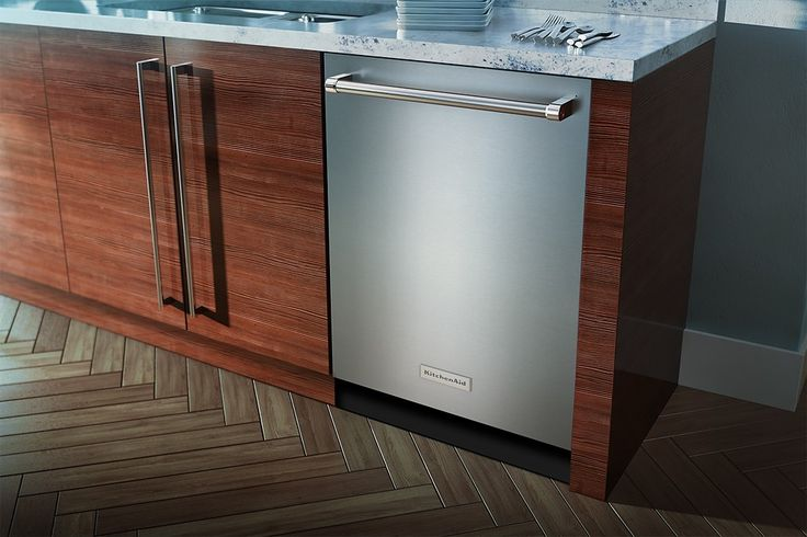 "KitchenAid - 24"" Tall Tub Built-In Dishwasher - Stainless Steel - Angle Zoom"