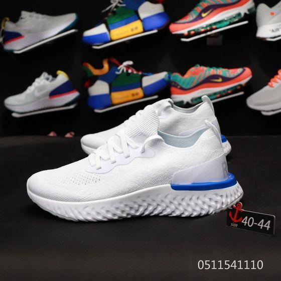 4e2018400226 2019 的 Nike Epic React Flyknit Aq0067 100 Racer Blue White Official ...