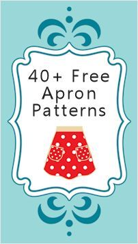Collection of patterns/directions on how to make various aprons from frilly, grilling, mens, kids, from a pillowcase, 1/2, full, crossbody and vintage look.