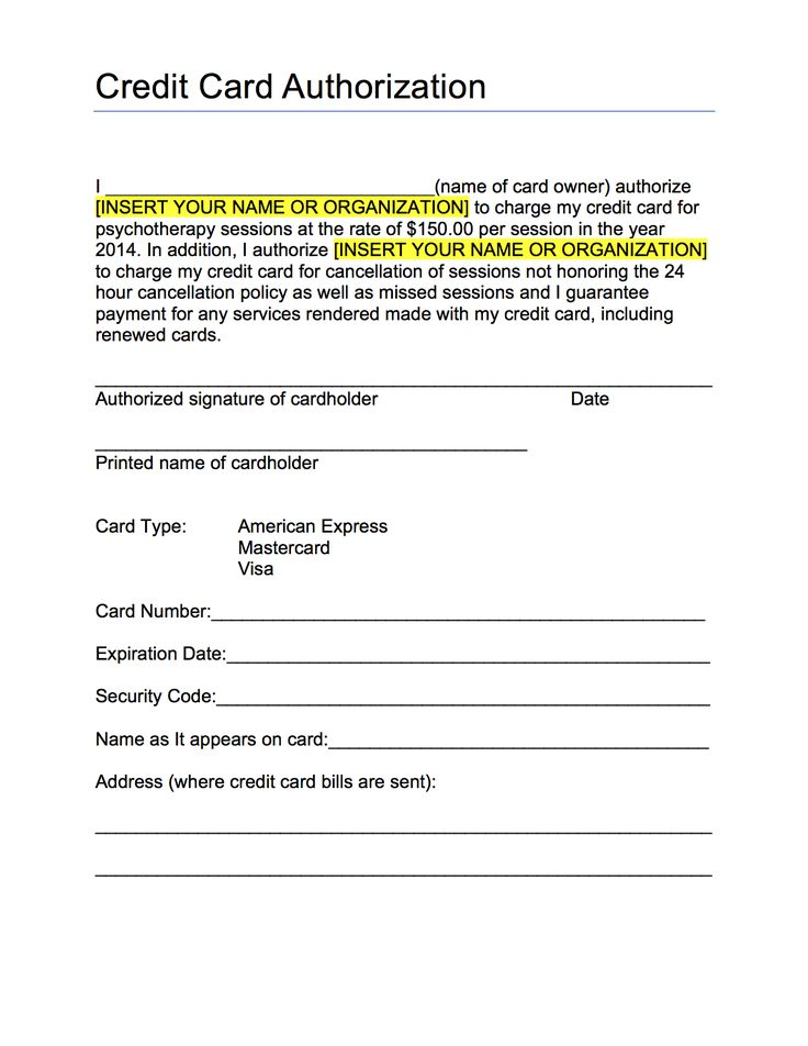 credit card authorization form template best business pdf fillable - sample credit card authorization form