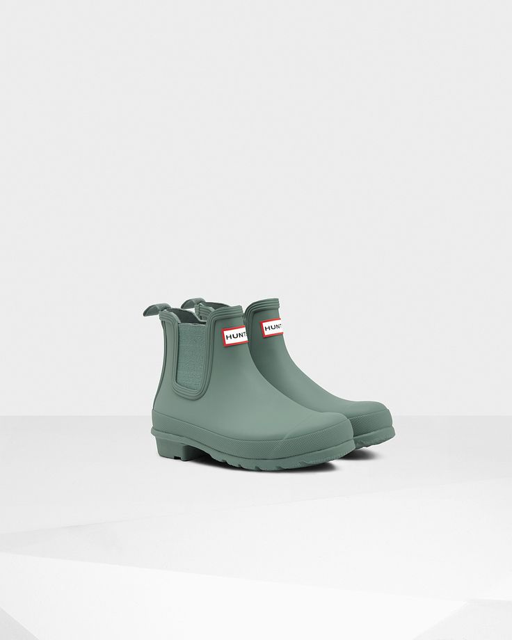 Womens Green Chelsea Boots | Official US Hunter Boots Store  $135