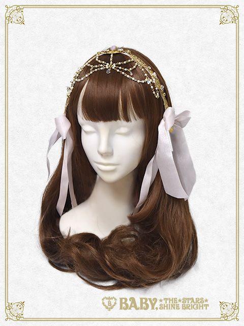 La Robe Tissee de la Rose Parfum Royal ribbon Tiara
