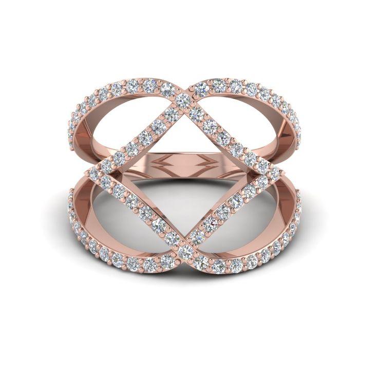 Interlocked Square Fashion Diamond Band