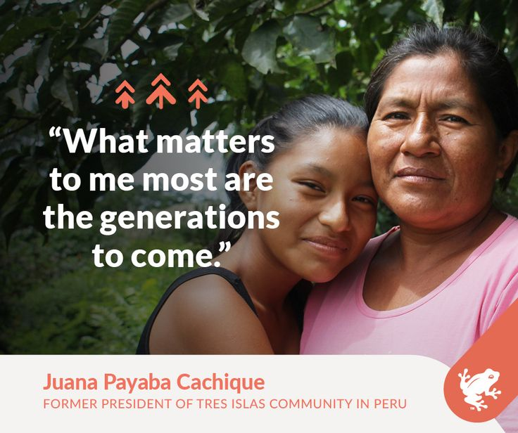 On this Indigenous Peoples Day, we're proud to support people like Juana and help indigenous peoples around the world continue the fight for strong forests and healthy communities.
