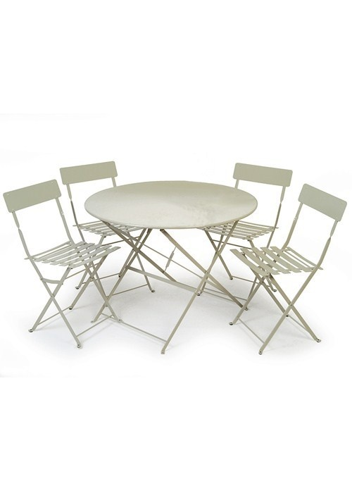 Our Clic French Bistro Style Dining Set Is Now Available In A Larger Size Ideal For Al Fresco Family Meals Crafted Steelfolds Flat Easy