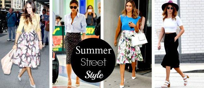 Πάρε ιδέες για chic street style εμφανίσεις με midi φούστα!