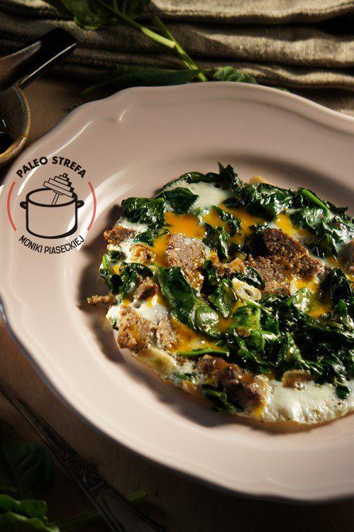 omlet ze szpinakiem paleo