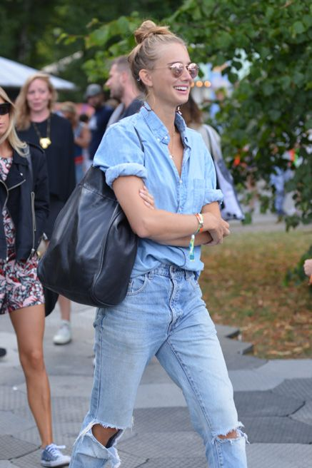 Double denim. Sweden