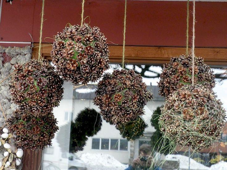 Декорируем пенопластовые шары природным материалом. Обсуждение на LiveInternet - Российский Сервис Онлайн-Дневников