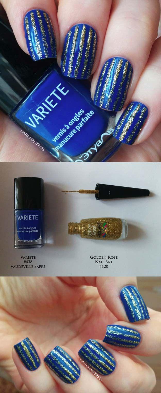 Striped Nail Art Ideas