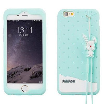 Cute-Sweet-Candy-Rabbit-Rope-Soft-Silicone-Rubber-Case-Cover-For-Mobile-Phone
