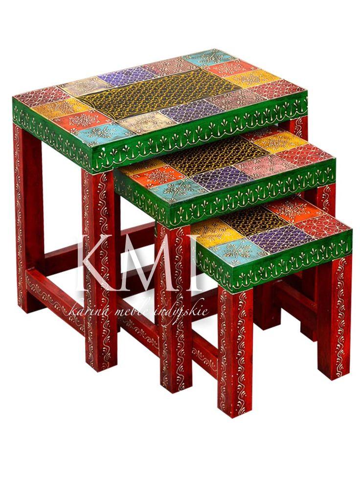 kolorowe stoliki indyjskie  http://karinameble.pl/