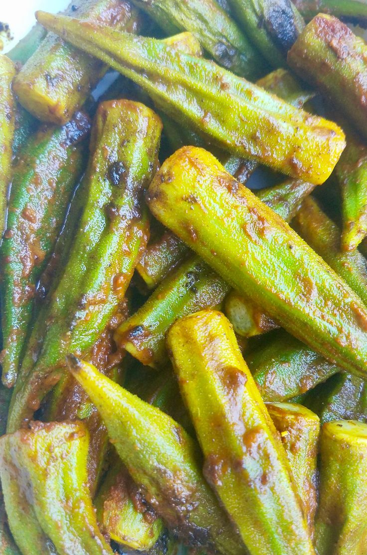 Grilled Curry Spice Okra