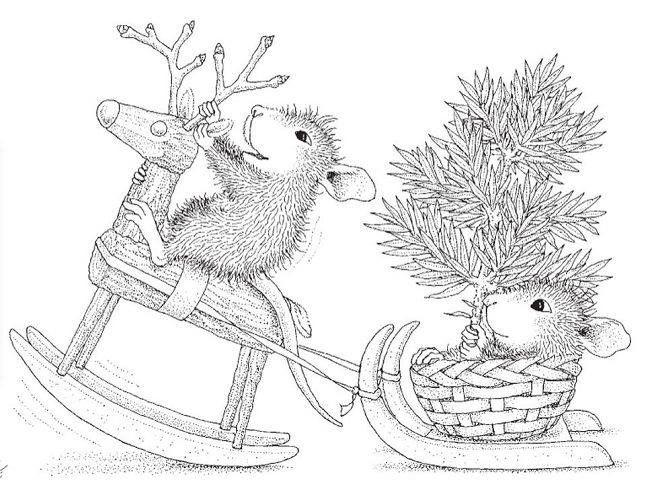 Новогодний картинки карандашом с крысой