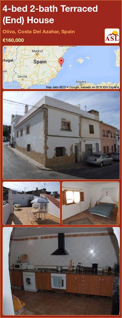4-bed 2-bath Terraced (End) House in Oliva, Costa Del Azahar, Spain ►€160,000 #PropertyForSaleInSpain