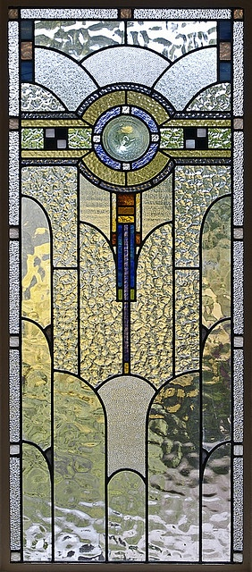 Art Deco Stained Glass in a Melbourne House; photo by colros on Flickr