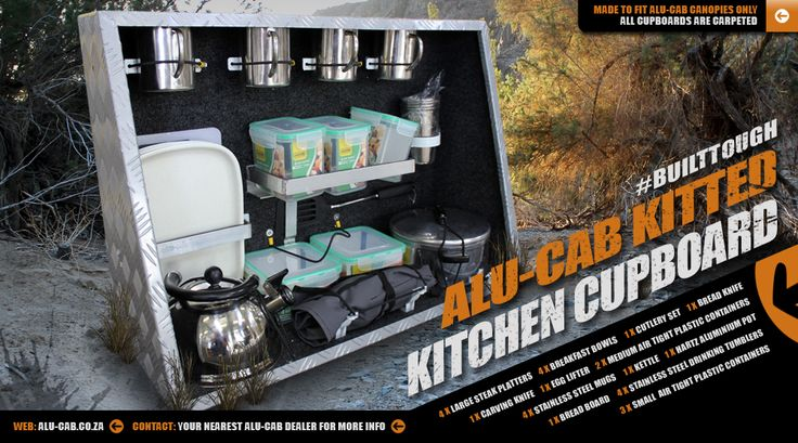 Alu-Cab's Kitted kitchen cupboard