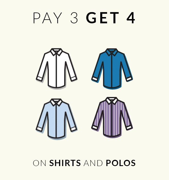 Pay 3 and Get 4! http://tailor4less.com Use the code: 4THFORFREE
