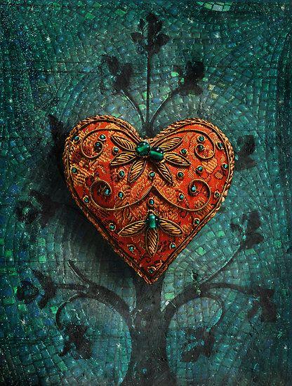 "Color lust. // ""Mosaic Valentine"" by Elizabeth Burton"