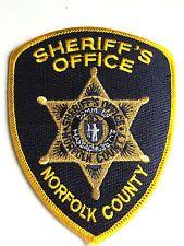 MASSACHUSETTS PATCH- NORFOLK COUNTY SHERIFF'S OFFICE