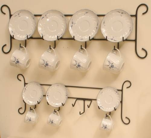 Cup and Saucer Hanger - Iron Horizontal 4 Place Product ID f771 Fine Home Displays  sc 1 st  Pinterest & 48 best Cup u0026 Saucer Displays images on Pinterest | Tea time ...