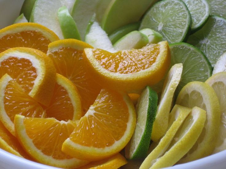 Add frozen citrus slices to cold drinks.