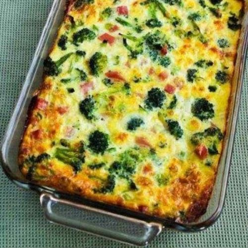 Broccoli, Ham, and Mozzarella Baked with Eggs-Enjoy!!,Directions:Heat oven to 375F/190C. Spray a 9″x12″ casserole dish with non-stick spray. (The dish can be slightly smaller too, especially if you use the smaller amounts of ingredients.)  Bring a medium-sized pot of water to a boil and cook the broccoli just 2 minutes; then pour into a colander placed in the sink and let it drain well. Dice the ham while the broccoli drains.  Layer broccoli, ham, Mozzarella, and green onions (if using) in…