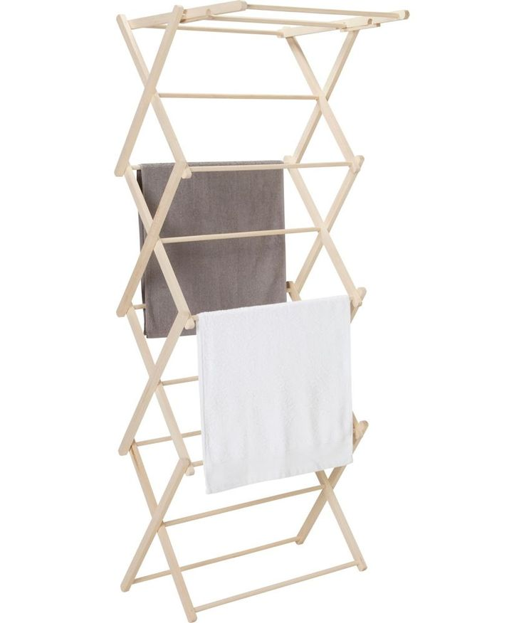 Buy Habitat Misto Wooden Indoor Clothes Airer at Argos.co.uk - Your Online Shop for Washing lines and airers.