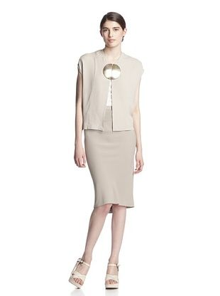 -24,900% OFF Rick Owens Women's Sable Capelet with Medallion (Pearl)