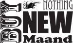 Buy Nothing New-Maand 2012: Eén maand lang ontdekken wat je hebt, en hoeveel moois en leuks er al is. Ruilen, delen, geven, (ver)huren, opleuken, lenen, repareren, zelf maken & tweedehands kopen. Doe ook mee!