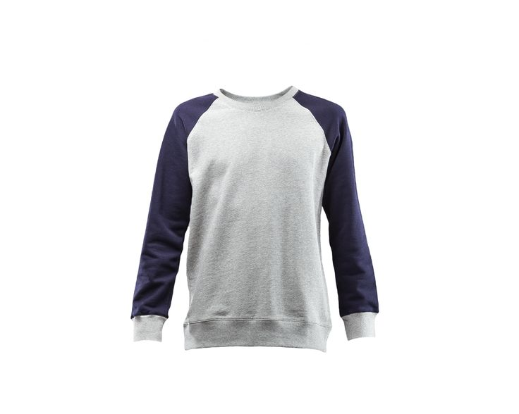 http://rsvpgallery.com/mens/a-p-c-two-tone-baseball-sweatshirt-grey.html