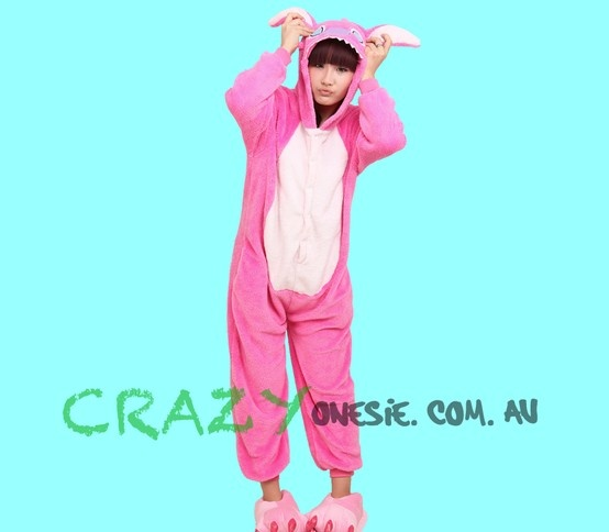 Pink Stitch Onesie. 25% off EVERYTHING in store. Free Express Delivery Australia-wide. Visit www.crazyonesie.com.au for more details. Visit our Facebook page https://www.facebook.com/crazyonesie for exclusive competitions and discounts