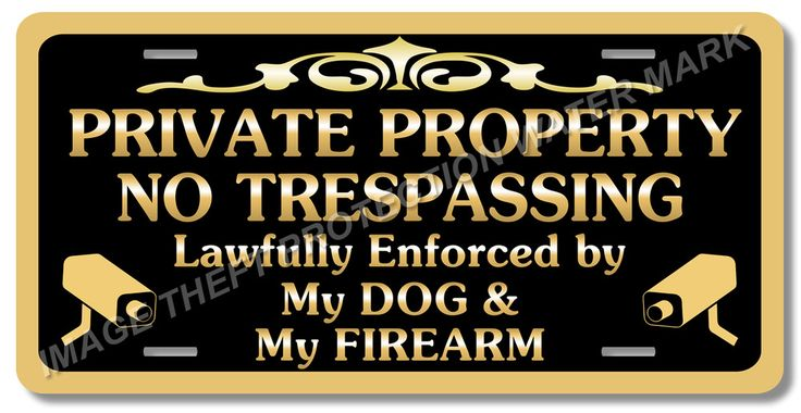 "Private Property Beware of Dog Gun Pistol Firearm Video Surveillance Sign 6""x12"" #YNGPPNTNS14 #ResidentialCommercial"