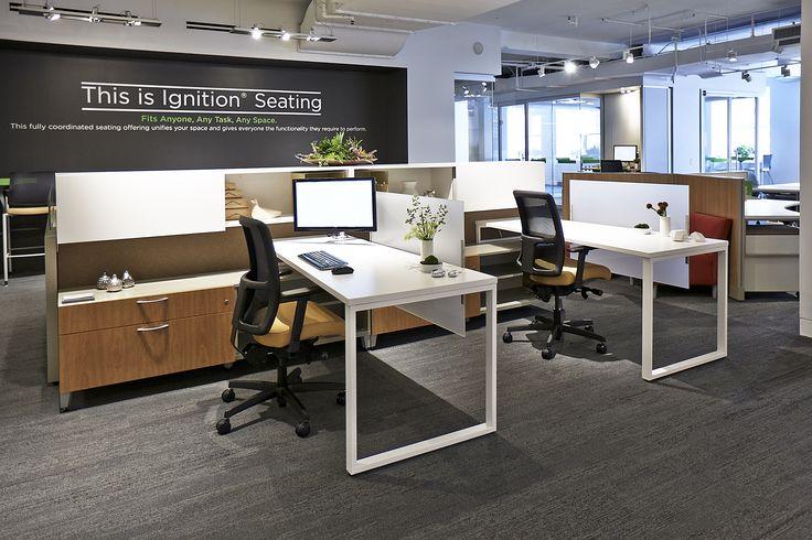 HON NeoCon 2014 Showroom Suite #1130, Merchandise Mart, Chicago. Showcasing the very best in office furniture design. #NeoCon14 Voi Desking, Accelerate Workstations, Contain Storage