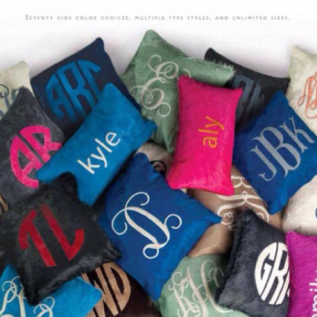 Kyle Bunting monogrammed hide pillows & 36 best Kyle Bunting Pillows images on Pinterest | Buntings ... pillowsntoast.com