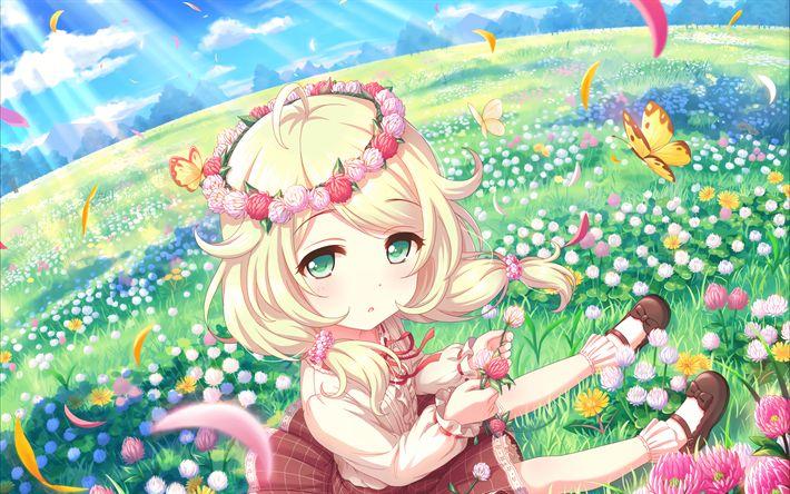Download wallpapers Kozue Yusa, manga, anime characters, The Idolmaster Cinderella Girls, Idolmaster