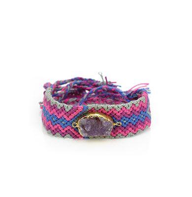 Wayuu Armband met Edelsteen 111 - €39,95