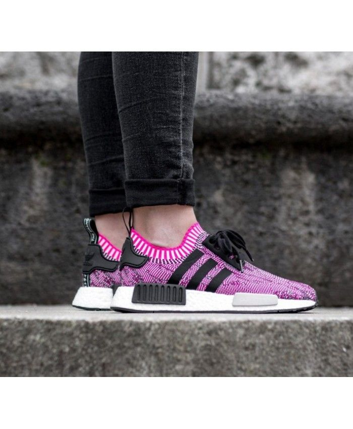 6d6a5d34fd787 Cheap Adidas NMD R1 W PK Trainers In Pink Black Sale Clearance ...