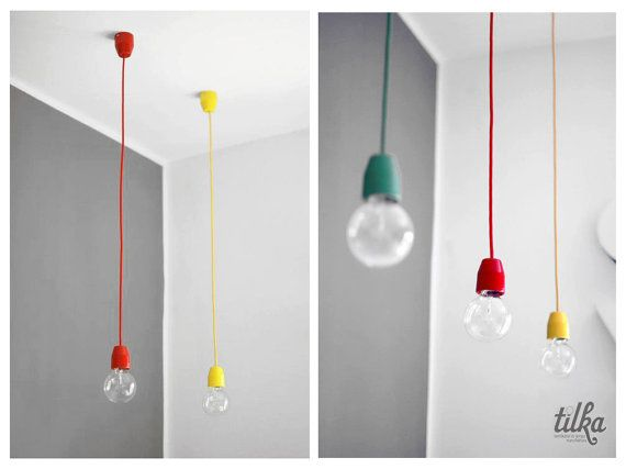 Tilka solo minimal lamp - green, red and yellow