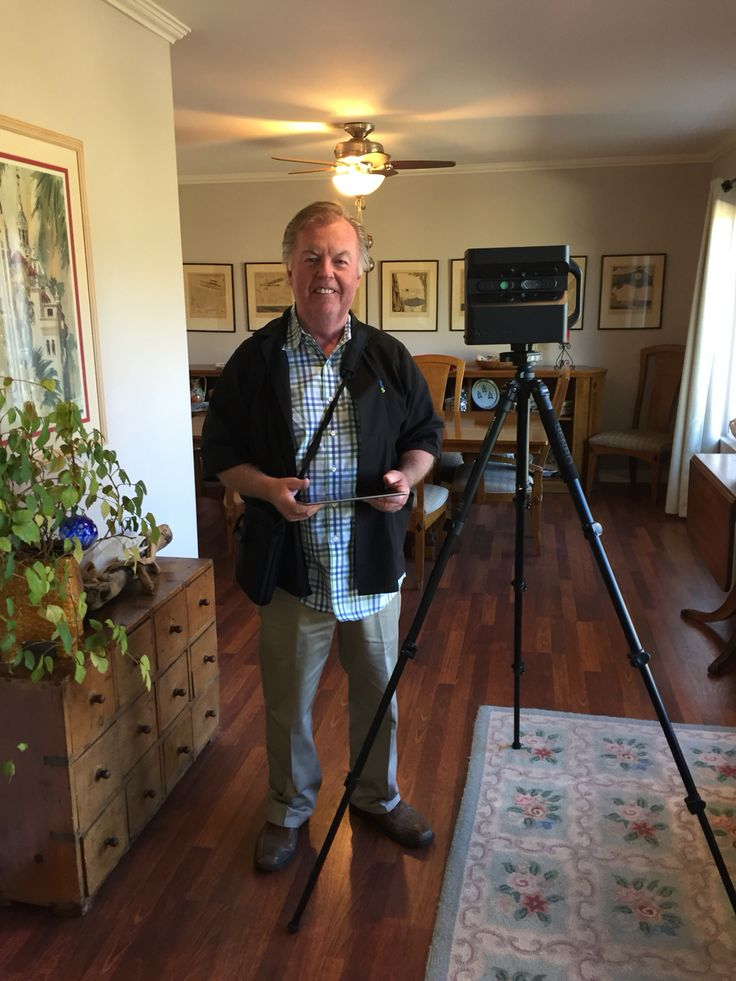 Don with Insight Photography taking professional pictures and 3D pictures of our listing.