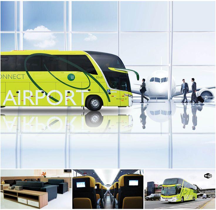 Ponta Grossa - Aeroporto: Wi-Fi, multimídia, ar-condicionado inteligente, carregador, bancos de couro no ônibus mais moderno do Brasil. http://www.princesadoscampos.com.br/airportconnect/