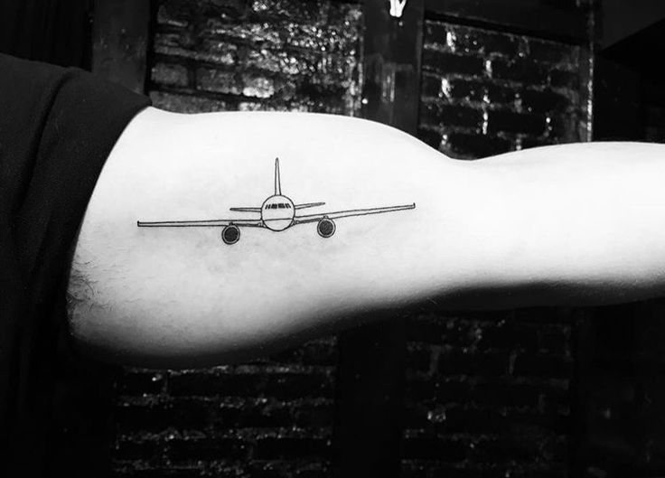 Airplane/ Traveling tattoo