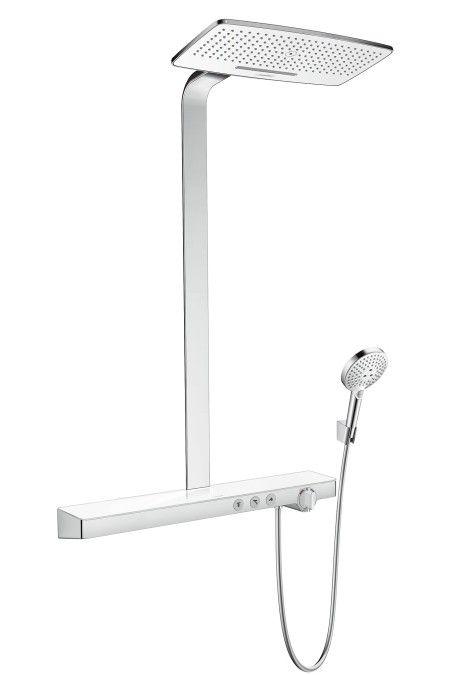 Hansgrohe Rainmaker Select 420 - 2jet Showerpipe weiß / chrom