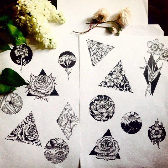 geometric drawing sketch tattoo on Instagram