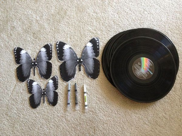 how to make shapes out of vinyl records (scratched beyond repair ones, or just really bad bands)
