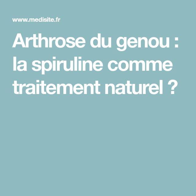 Arthrose du genou : la spiruline comme traitement naturel ?