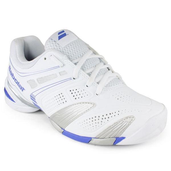 Babolat Women`s V Pro 2 All Court Tennis Shoes White/Blue