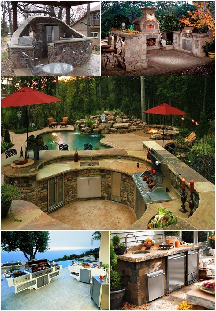 amusing outdoor kitchen designs | 47 Amazing Outdoor Kitchen Designs That Will Take Your ...